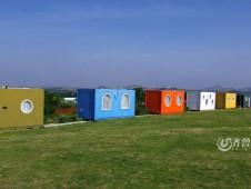 呼伦贝尔草原上的集装箱酒店欣赏