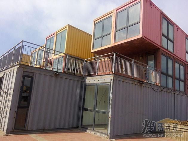 天津集装箱改装的酒店采用二手的海运集装箱
