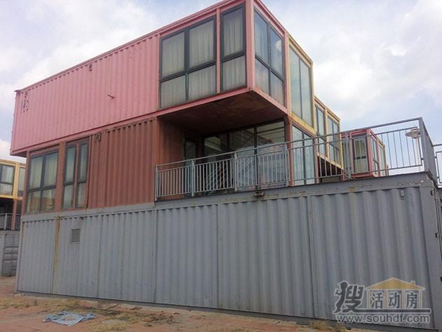 天津三层的集装箱改装的酒店