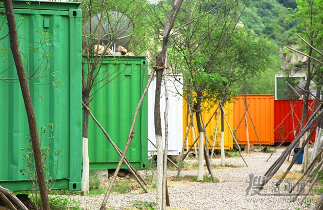北京石景山度假区的集装箱酒店