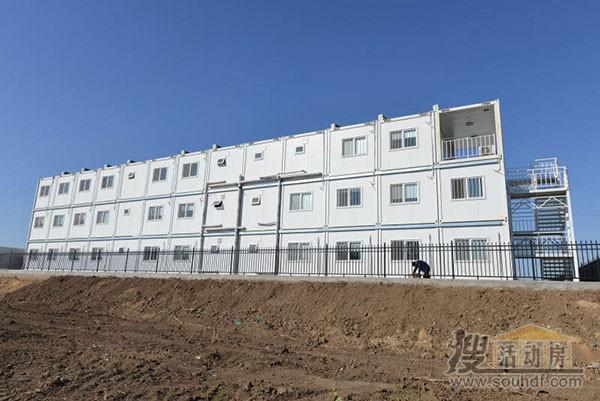 高档集装箱房屋可以摆放3层