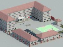 中铁宝桥永定桥项目部的大红顶彩钢房效果图 (6)