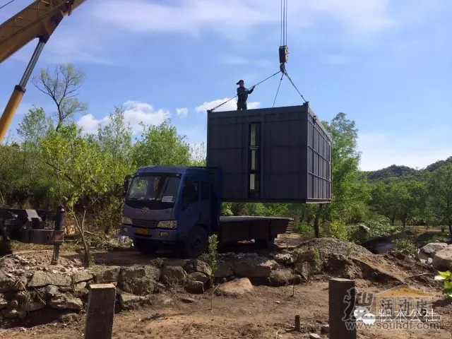 延庆的集装箱别墅建造中