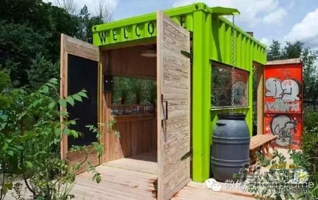 绿色的集装箱改装房屋