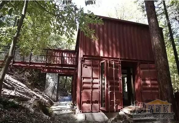 山区的集装箱别墅