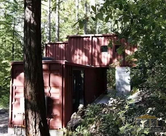 棕色的集装箱房屋