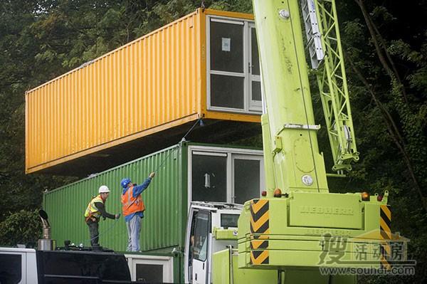 海运集装箱改装的公寓