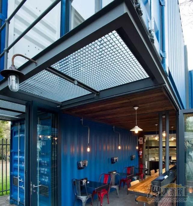 集装箱改装咖啡屋的外景