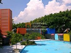 广州中民集装箱酒店 集装房屋营地示范基地外景