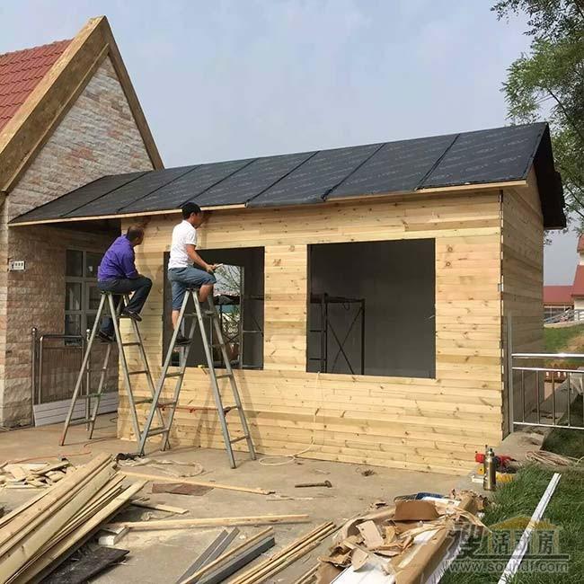 小木屋快做完了