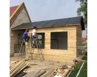 方管焊接轻钢房屋 内保温板外木板装修