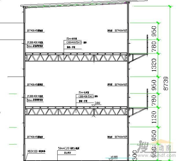 三层彩钢房图纸