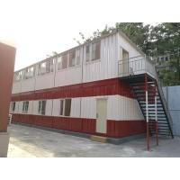 高档的二层集装箱做的员工宿舍