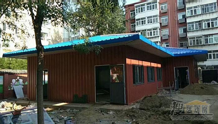 廊坊小学教室采用集装箱活动房制作