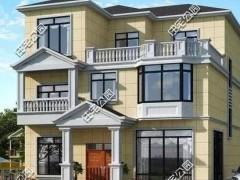 三层的砖混结构别墅 最外层采用金属雕花板