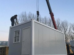 青岛利达打包箱式房屋安装过程