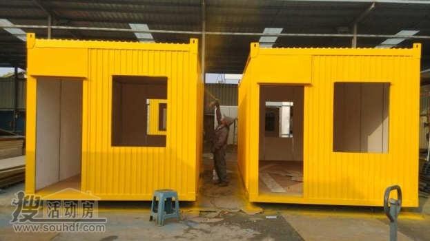 黄色的防火瓦楞板集装箱武汉