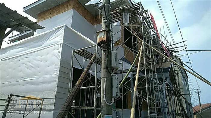 轻钢结构建筑北京施工中