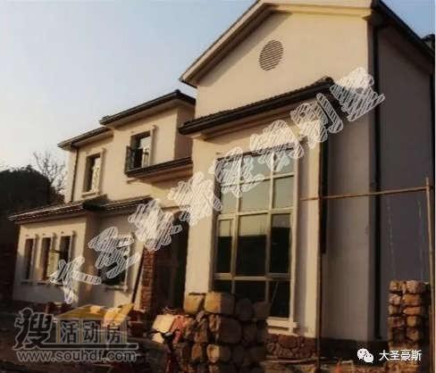 建好的轻钢别墅房屋外观