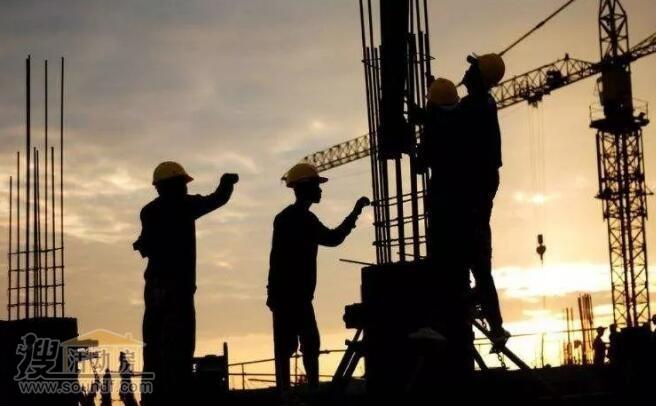 建筑工地的农名工
