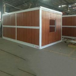 木纹彩钢板折叠集装箱