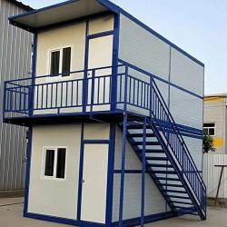 折叠集装箱房样品 2层房带楼梯走廊