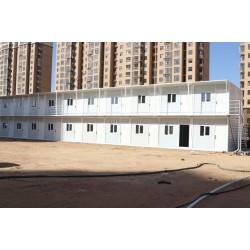 两层的折叠集装箱宿舍 安装快速 方便