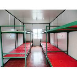 天津住人就集装箱内部可以放5个上下铺