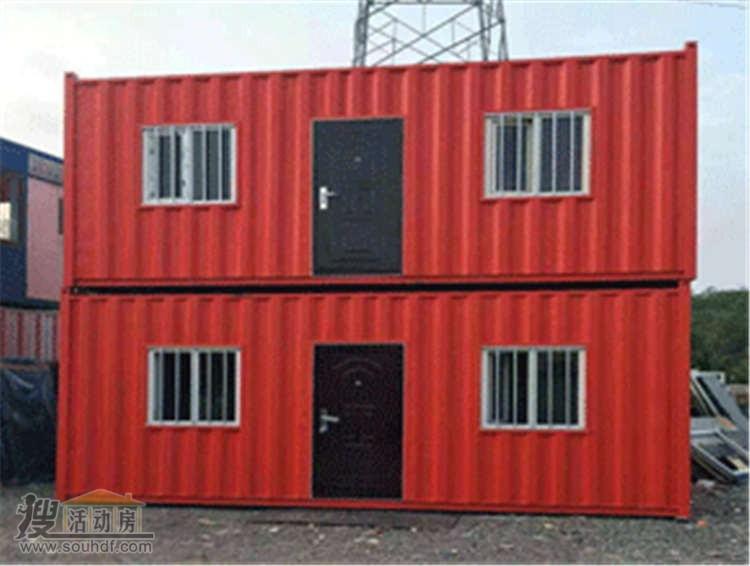 红色双层的集装箱租赁